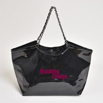 Patent Leather Scoop Tote Bag