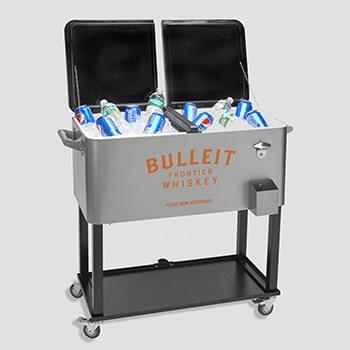 Rolling Cooler Vending Cart