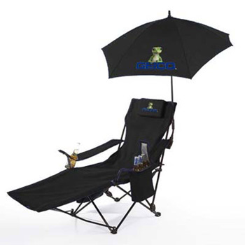 The Recliner Lounge Chair with Kite Umbrella
